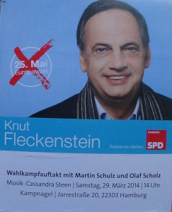 SPD Poster in der Innenstadt Hamburg