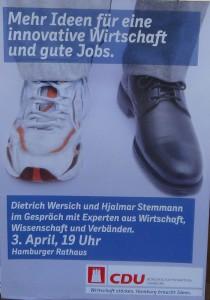 CSU Poster in der Innenstadt Hamburg